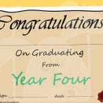 Year 4 Graduation Certificate