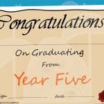 Year 5 Graduation Certificate