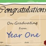Year 1 Graduation Certificate
