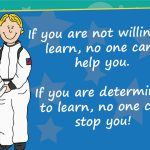 Motivational Astronaut Poster