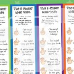 5 Finger Book Test Bookmarks