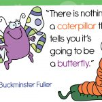 Caterpillar to Butterfly Motivational Poster
