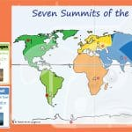Seven Mountain Summits Of The World Interactive Activity