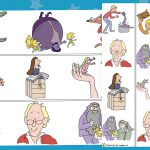 Roald Dahl Borders (White Background)