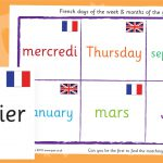 French Days and Months Bingo