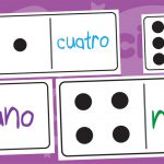 Spanish Numbers to 10 Dominoes