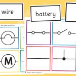 Electricity Circuit Symbol Matching Cards