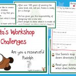 Santa's Workshop Christmas Challenge Cards