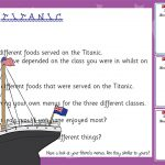 Titanic Menu Designs