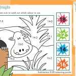 Rumble in the Jungle Subtraction to 20 Colouring
