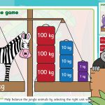 Rumble in the Jungle Place Value Weighing Game