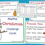 Christmas KS2 Maths Challenge Cards