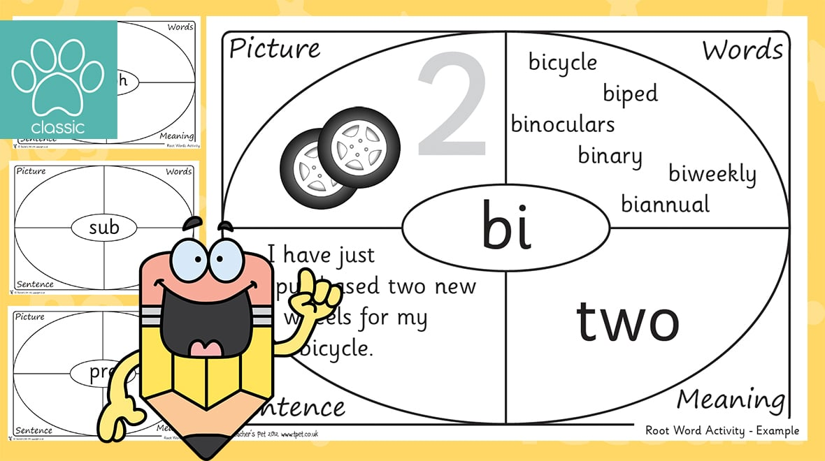 Teacher S Pet Phonics Phase 6 Root Words Activity