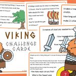 Editable Viking Maths Word Problem Challenges