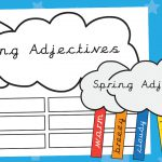 Spring Adjectives Clouds Activity