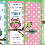 Editable End of Year 'Have a Hoot' Bookmarks