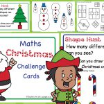 Editable Early Years Christmas Maths Challenge Cards