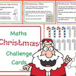 Editable KS1 Christmas Maths Challenge Cards