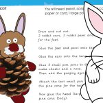 Easter Pine Cone Rabbit Craft
