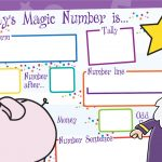 Today's Magic Number Mat (EYFS)