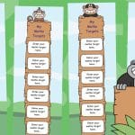 Editable My Monkey Maths Targets Bookmarks