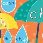 Phonics Umbrella and Raindrop Sounds Pack 1