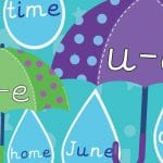 Phonics Umbrella and Raindrop Sounds Pack 7