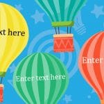 Editable Large Hot Air Balloons