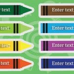 Editable Coloured Crayon Labels
