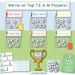 T.E.A.M Football Behaviour Reward Display Pack