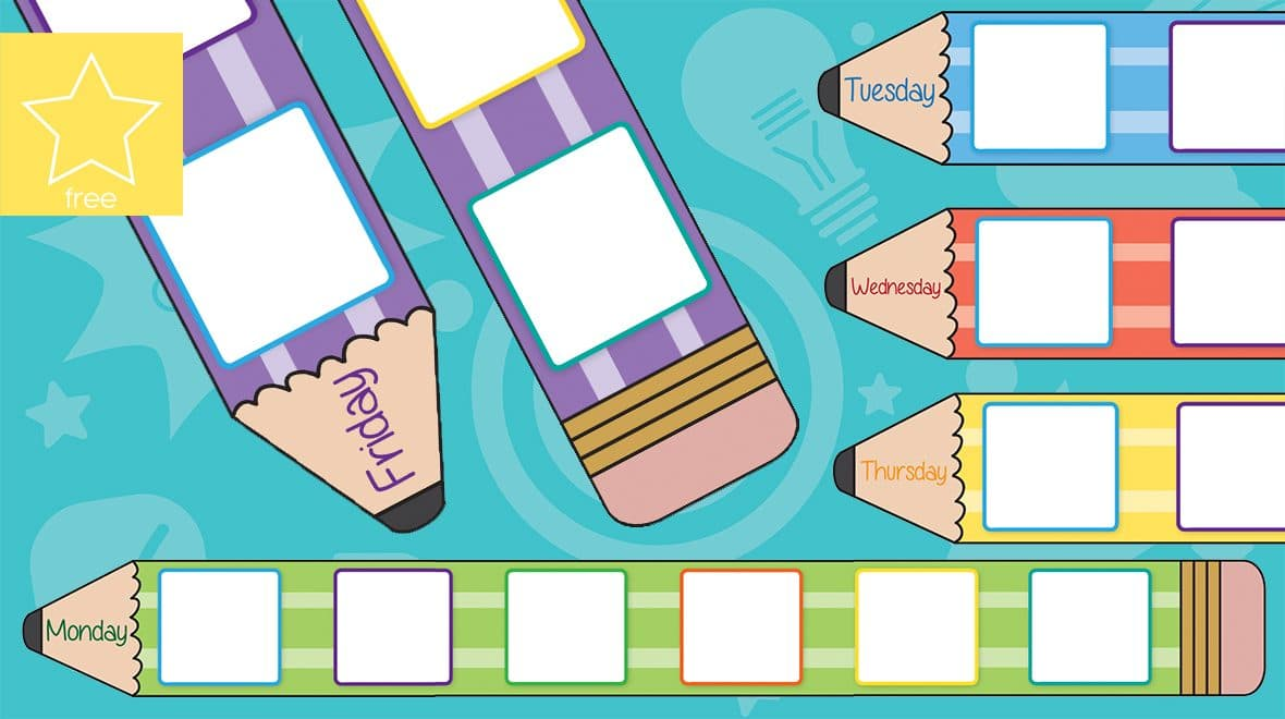 Teacher's Pet » Daily Pencil Visual Timetable Boards