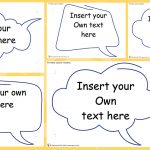 Editable Speech Bubbles