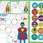 Superhero Sticker Charts and Stickers (Boys)