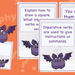 Bossy Bats Imperative Verbs Posters
