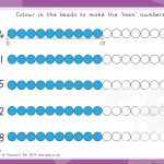 Teen Numbers Bead Colouring