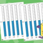 Teen Numbers Cube Colouring