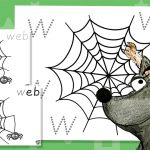 Phase 3 Colouring Webs – W Sound