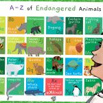 A-Z of Endangered Animals Poster
