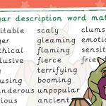 Excitable Edgar Description Word Mat