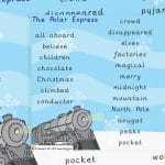 Polar Express Word Mat