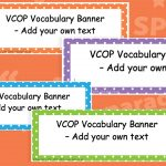 Editable VCOP Banners (Printer Friendly)