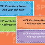 Editable VCOP Banners