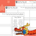 Chinese New Year – Nian the Monster Story Retell Frames