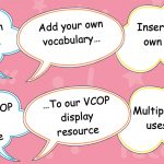 VCOP Editable Vocabulary Speech Bubbles