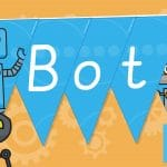 Deeta and the Cyber Bots Display Bunting