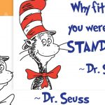 Dr Seuss – Fit In Quote Poster