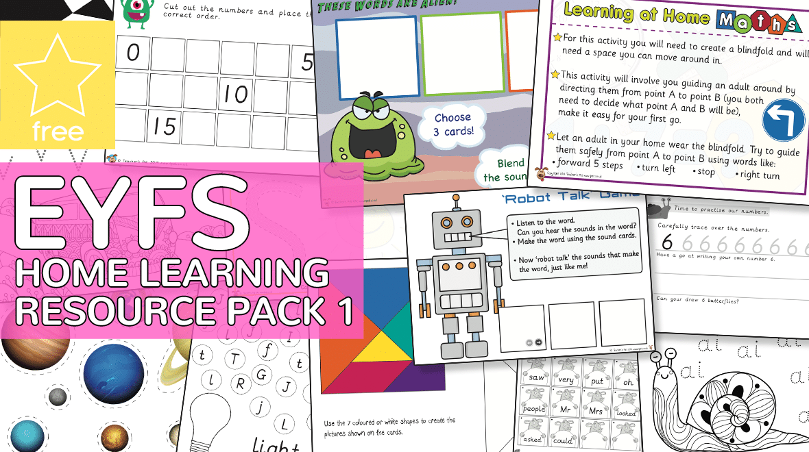 Teacher's Pet » Early Years EYFS Home Learning Resource Pack 1