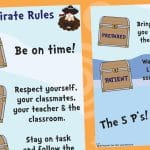 Our 5 Pirate Rules – Display Poster
