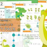 x2 Times Tables Dinosaur Activity Pack