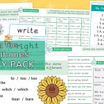 Homophones Spelling Activity Pack